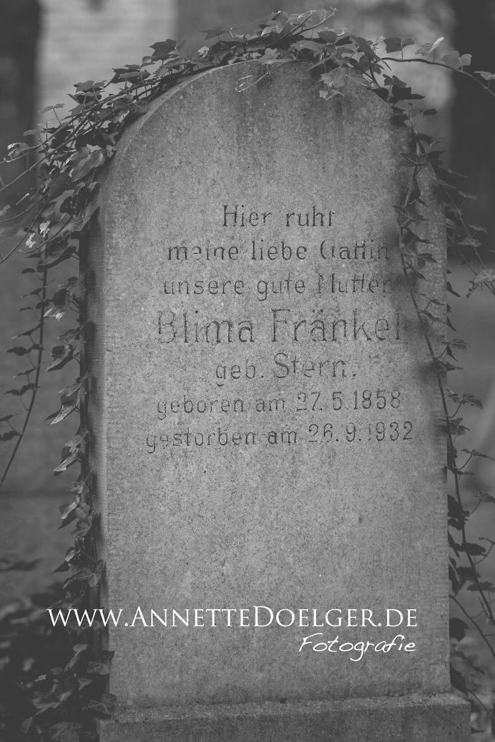 Auf dem jüdischen Friedhof