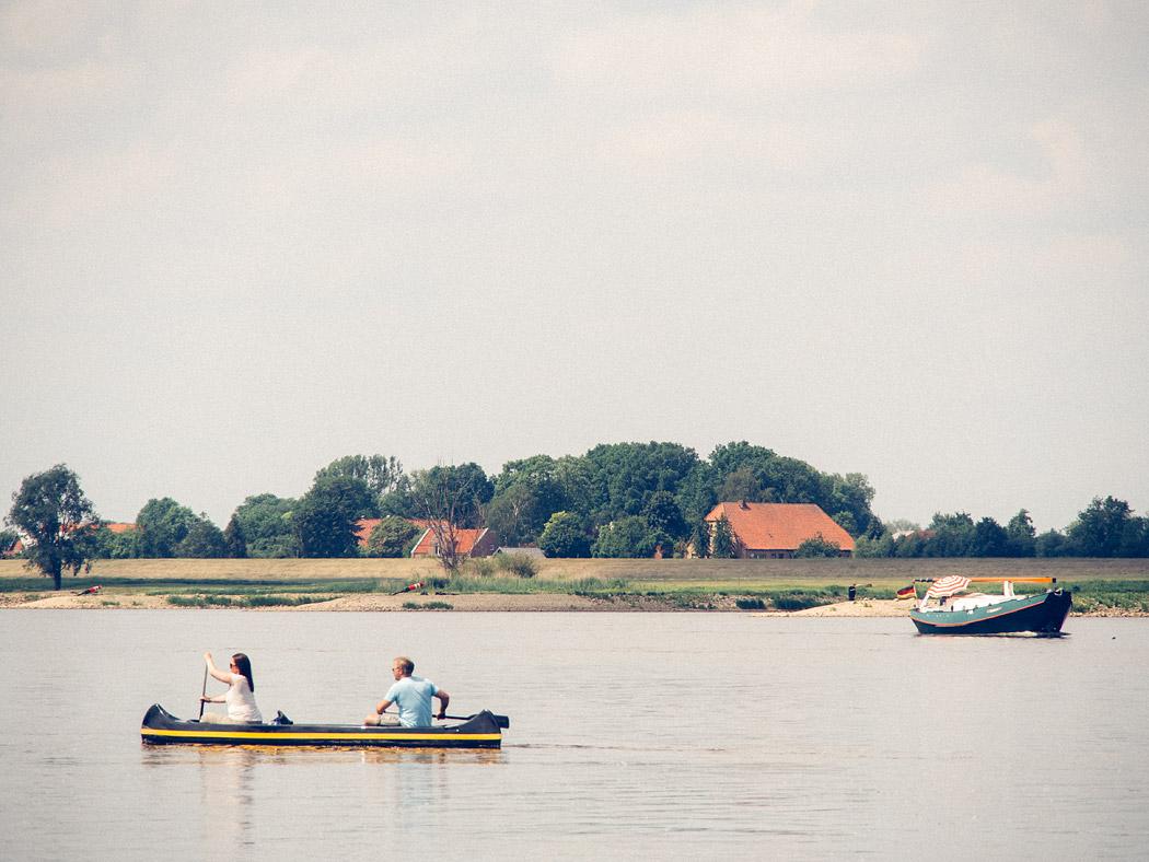 Freizeit auf der Elbe bei Hitzacker