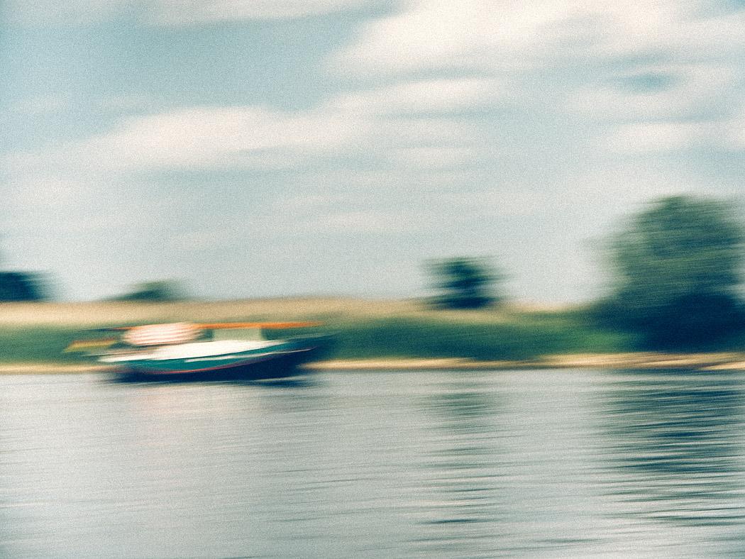 Abstrakte Elbe bei Hitzacker