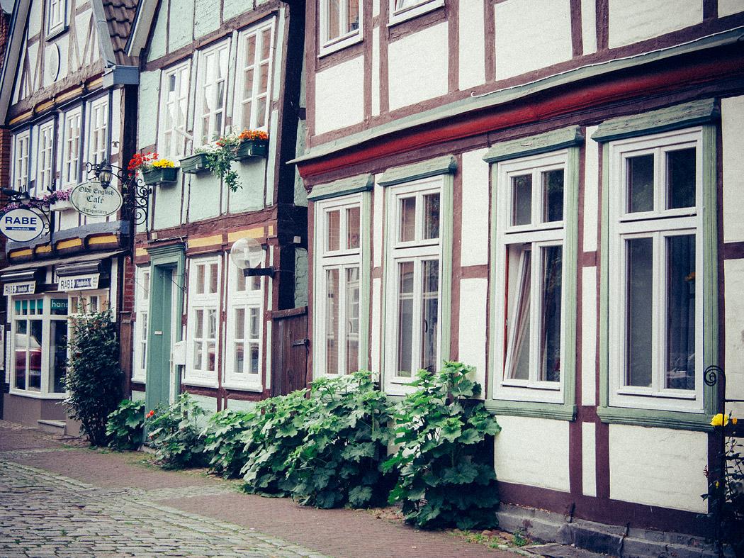 Fassaden in der Altstadt von Hitzacker