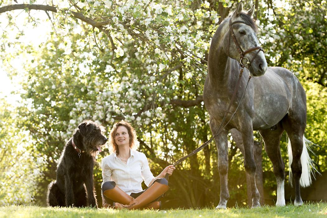 Pferdefotografie-Braunschweig-Frau-Hund