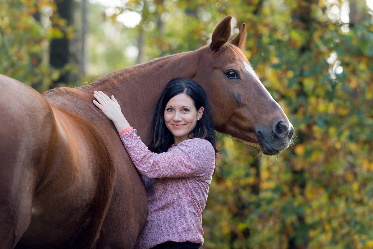 Pferdefotografie-Fuchs-Frau